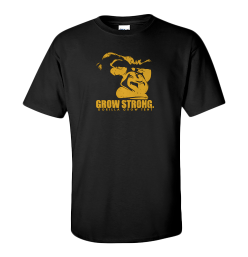 Grow Strong with the best gear around. Quality printed cotton Tees in all sizes.