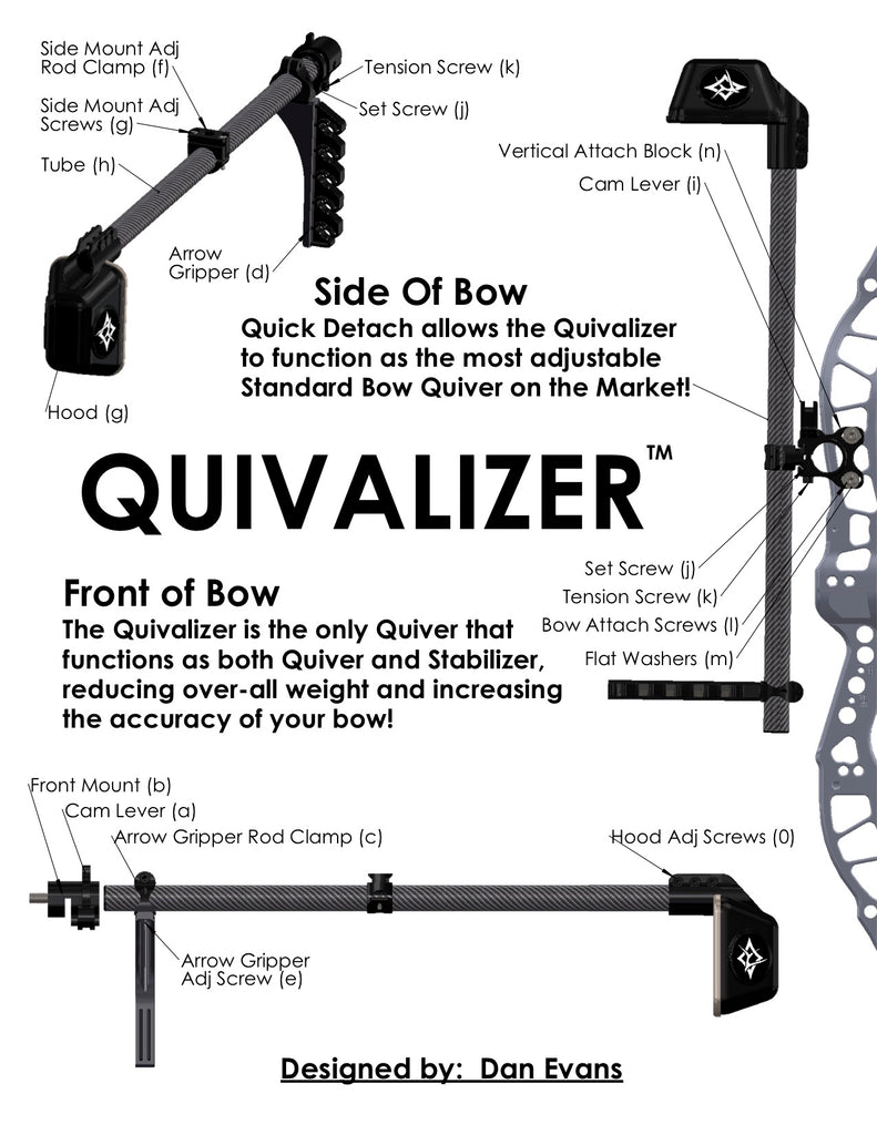 bow stabilizer and quiver