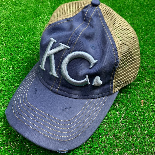 KC Heart l Blue Trucker Hat - Local T KC