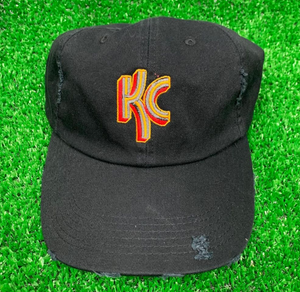 KC Stripel Black Distressed Trucker Hat - Local T KC