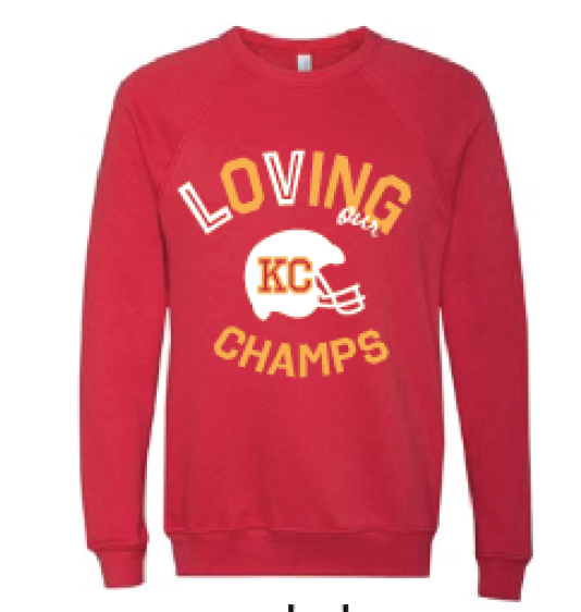 Loving Champs  | Red Crewneck Sweatshirt - Local T KC