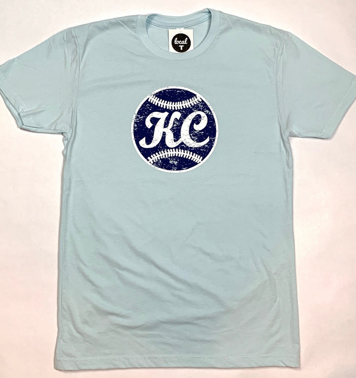 Vintage Ball  | Columbia Blue T-shirt - Local T KC
