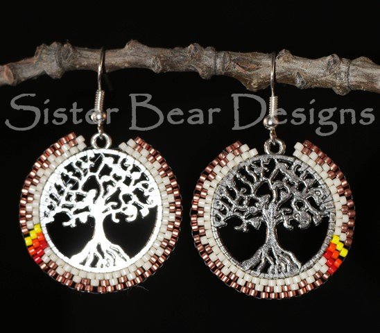 Nookomis Giizhig - Tree of Life Earrings