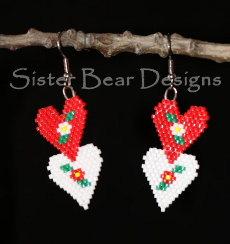 Ni'mama (Mother) Heart Earrings