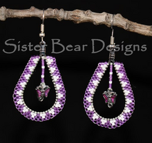 Load image into Gallery viewer, Small Teardrop Earrings with center drop