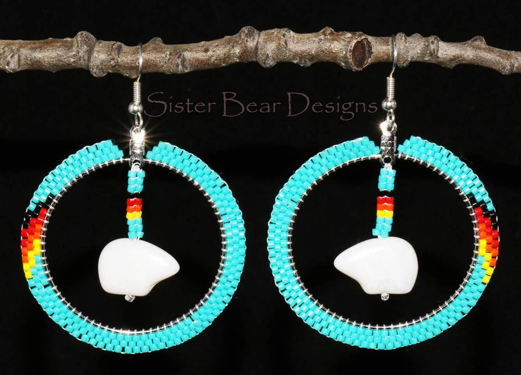 Turquoise Bear Fire Colours
