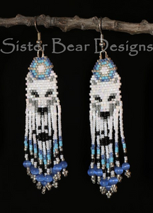 Ma'iingan (Wolf) Earrings