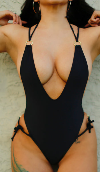 """Hybrid Angel"" Black One Piece"