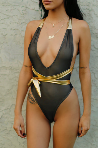 """EUROPA"" Multi-Wear One Piece Black Metallic"