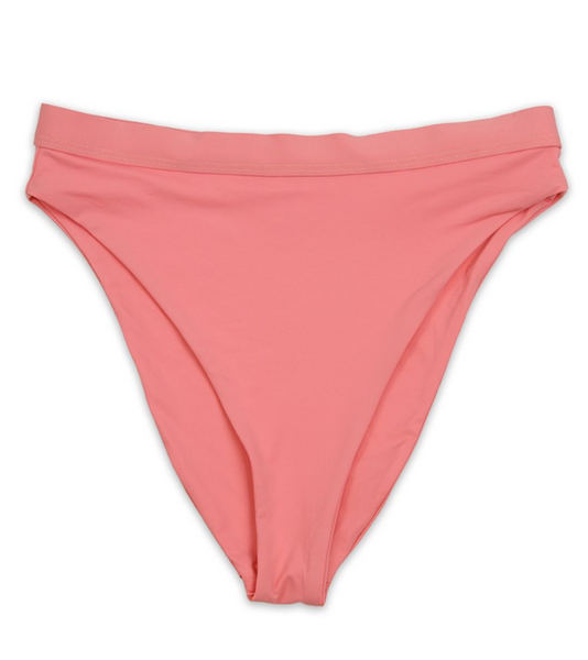 """CORAL CRAYZ"" High Waisted Bikini"
