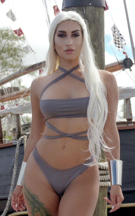 """TRIFECTA"" Gray Multi Wear Bikini"