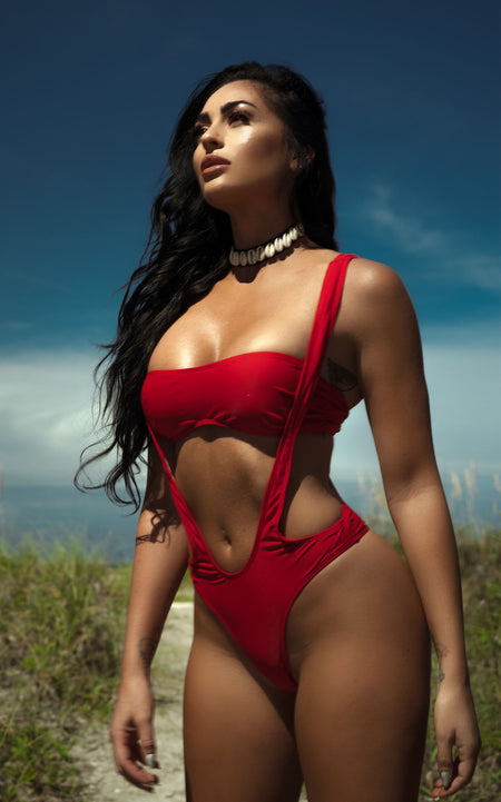 """Hybrid Angel"" Red One Piece"