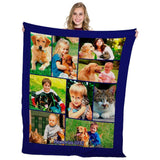 "Limited Edition!!! Full Service Photo Collage Heavyweight Plush Fleece Blanket - 50"" x 60""-PersonalThrows"