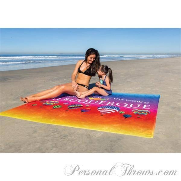 "60"" x 72"" Two-Person Terry-Velour Photo Beach Towel"