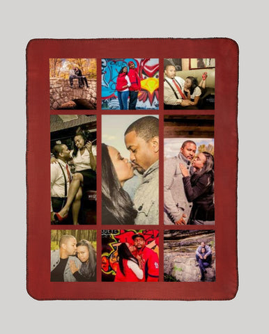 "New! Full Service Photo Collage Heavyweight Polar Fleece Blanket - 50"" x 60"""