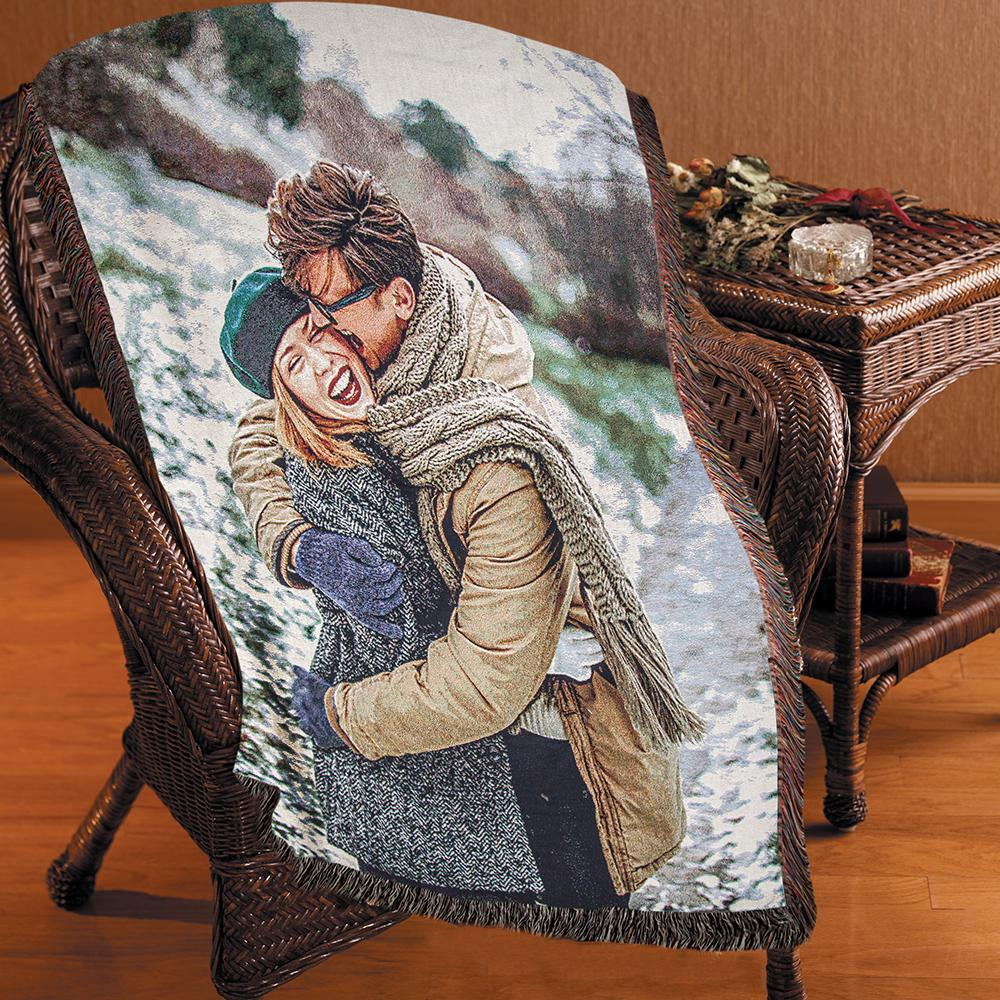 "Jacquard Woven Photo Blanket - 50"" x 60"" (Medium)"