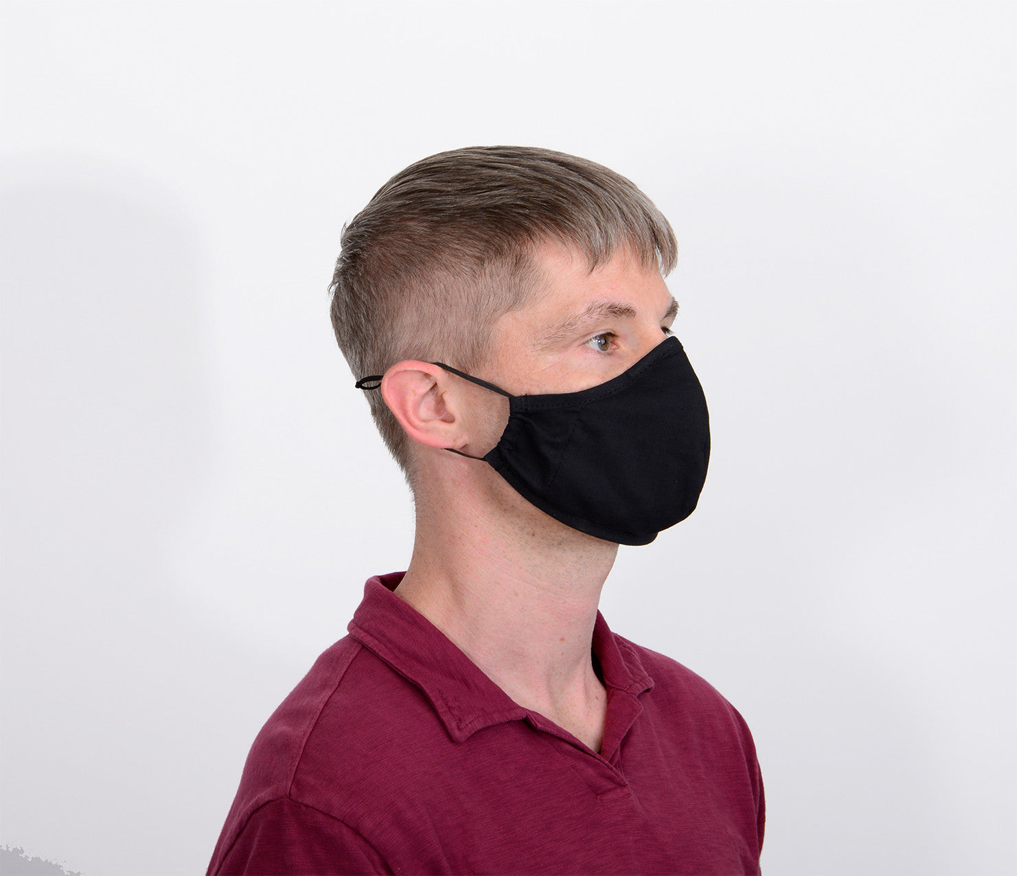 Premium Quality Reusable 2Ply Face mask - Black - One Size