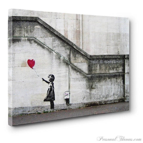 "Designer Gifts - Banksy, ""There Is Always Hope"" Canvas Gallery Wrap Print"