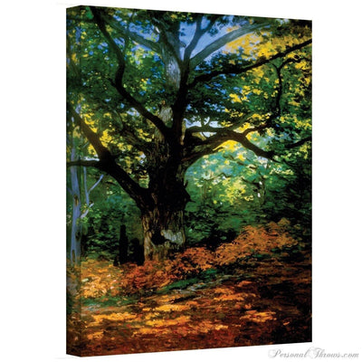 "Designer Gifts - Claude Monet, ""Bodmer Oak At Fountainbleau Forest"" Canvas Gallery Wrap Print"