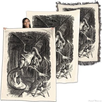 Designer Gifts - Jabberwocky (Alice Through The Looking Glass) - Throw Blanket