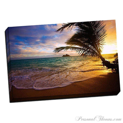 "Designer Gifts - Lanikai Beach 24"" X 36"" X 1.5"" Canvas Gallery Wrap Photo Print"
