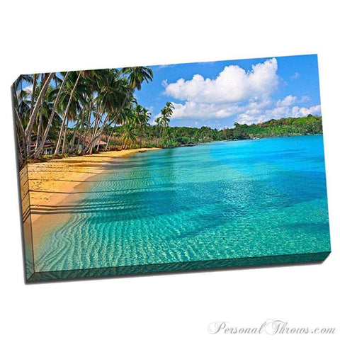 "Designer Gifts - Paradise Beach 24"" X 36"" X 1.5"" Canvas Gallery Wrap Photo Print"