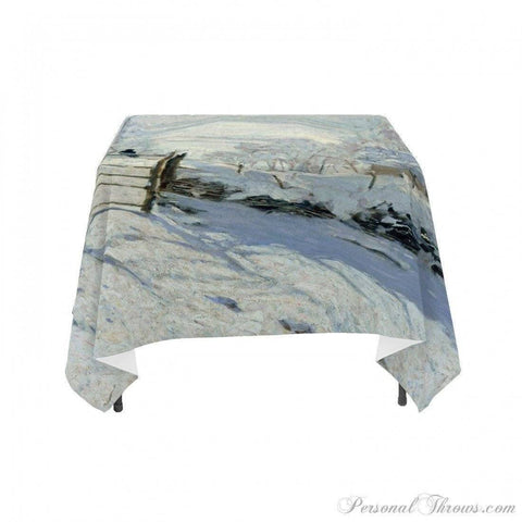 "Holiday Gifts,Photo Home & Office - Claude Monet's ""The Magpie"", Linen Table Cloth"
