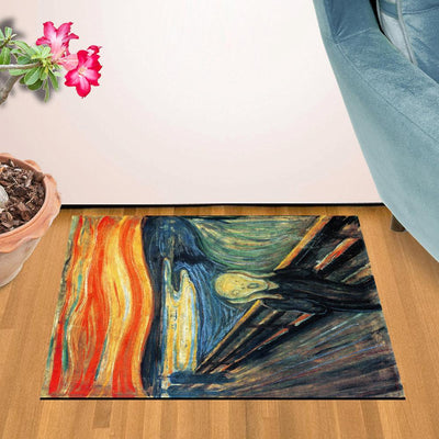 "The Scream by Edvard Munch Doormat (24"" x 36"")"