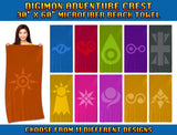 "Digimon Adventure Crest - 30"" x 60"" Microfiber Beach Towel"
