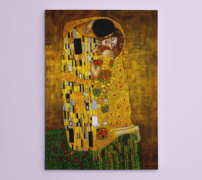 "Gustav Klimt,The Kiss (18"" x 24"" x 1.5"" ) - Canvas Wrap Print"