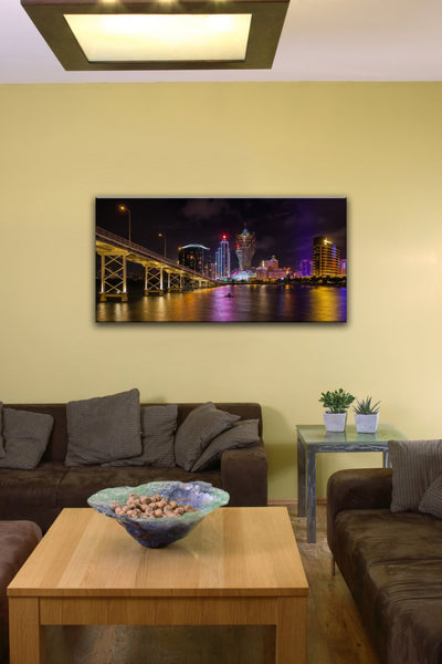 "Nam Van Lake, Macau (12"" x 24"") - Canvas Wrap Print"