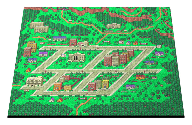 "EarthBound, Onett Map 18"" x 24"" Doormat Welcome Floormat"