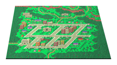 "EarthBound, Onett Map 24"" x 36"" Doormat Welcome Floormat"