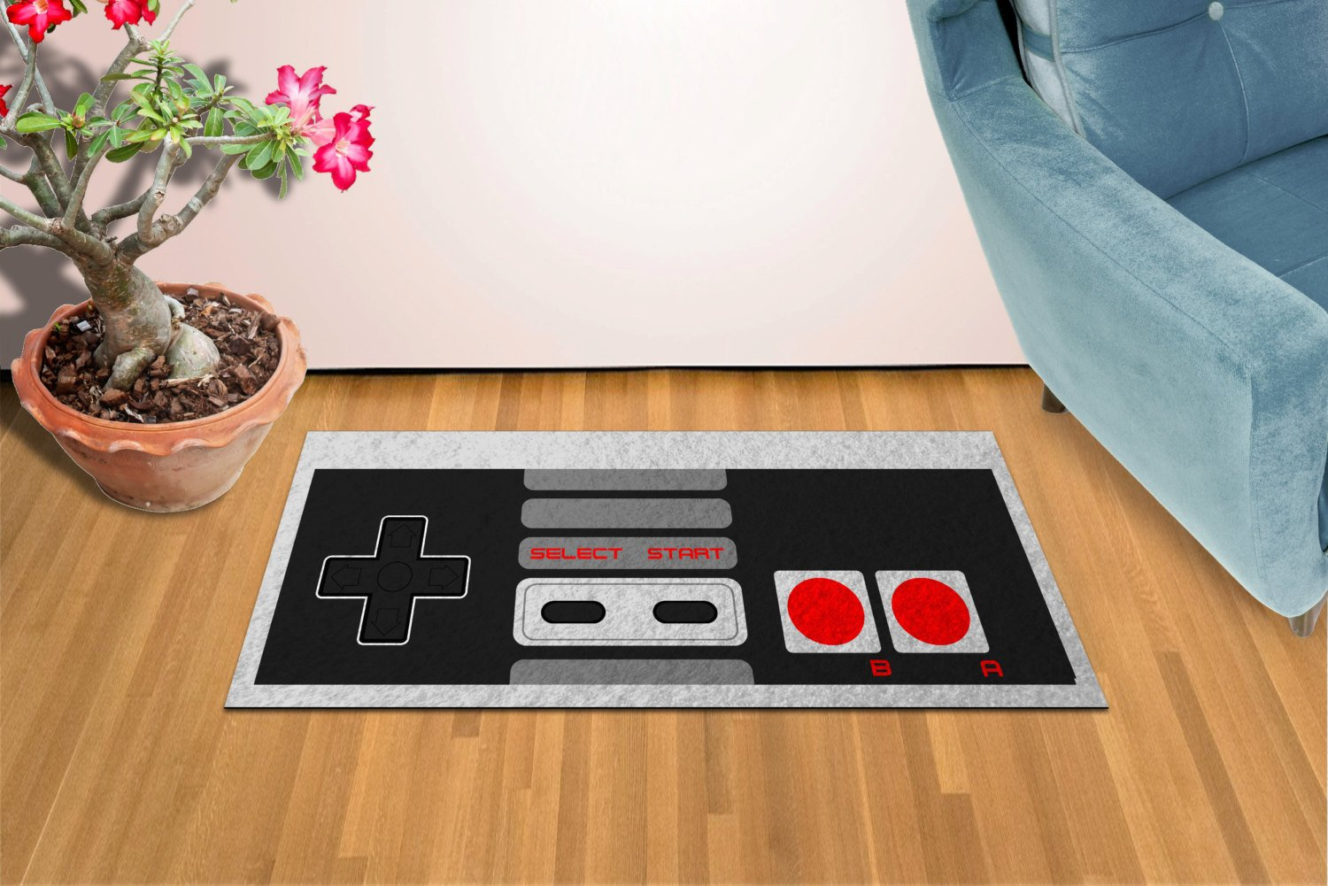 "NES Controller 25"" x 60"" Doormat Welcome Floormat"