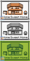 "Pokemon, ""Home Sweet Home"" - Throw Blanket/Throw Rug"