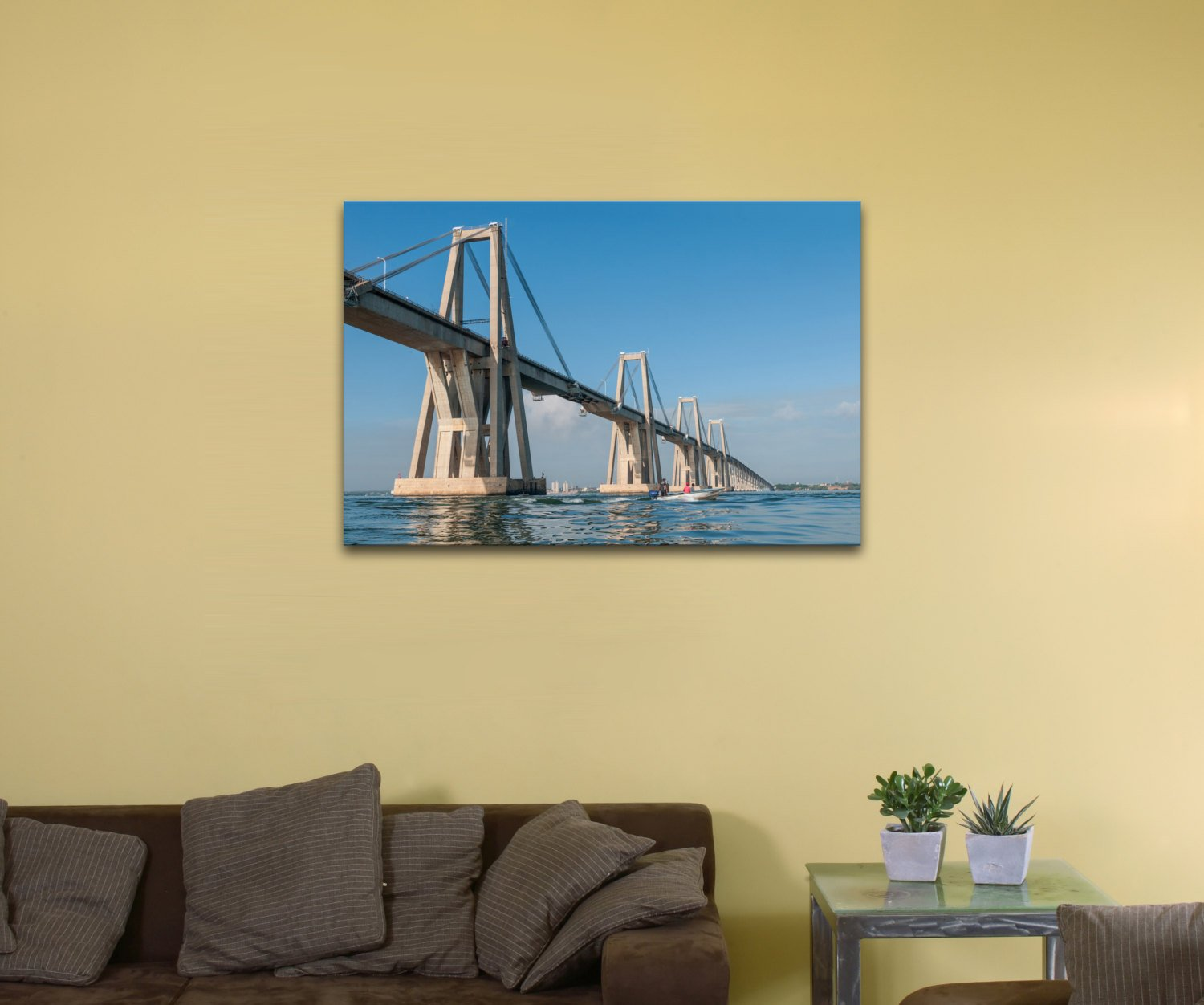 "General Rafael Urdaneta Bridge, Venezuela (12"" x 18"") - Canvas Wrap Print"