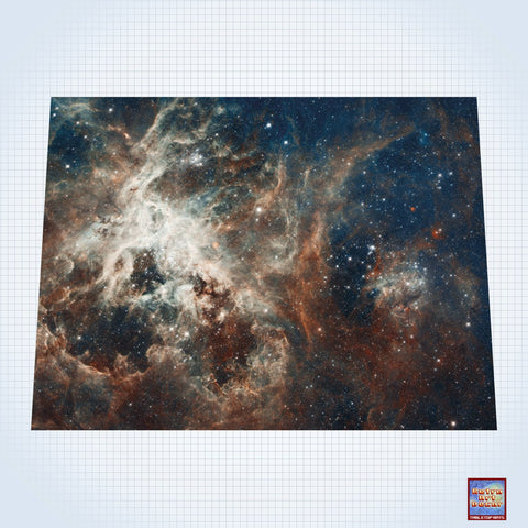 "Galaxy, 30 Doradus - #GM100 - 60"" x 80"" (4' x 6' plus) Fleece Table Top Gaming Mat"