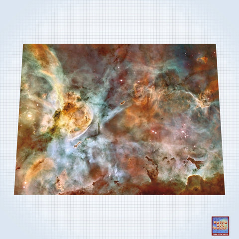 "Galaxy, Carina Nebula Star Birth in the Extreme - #GM101 - 60"" x 80"" (4' x 6' plus) Fleece Table Top Gaming Mat"