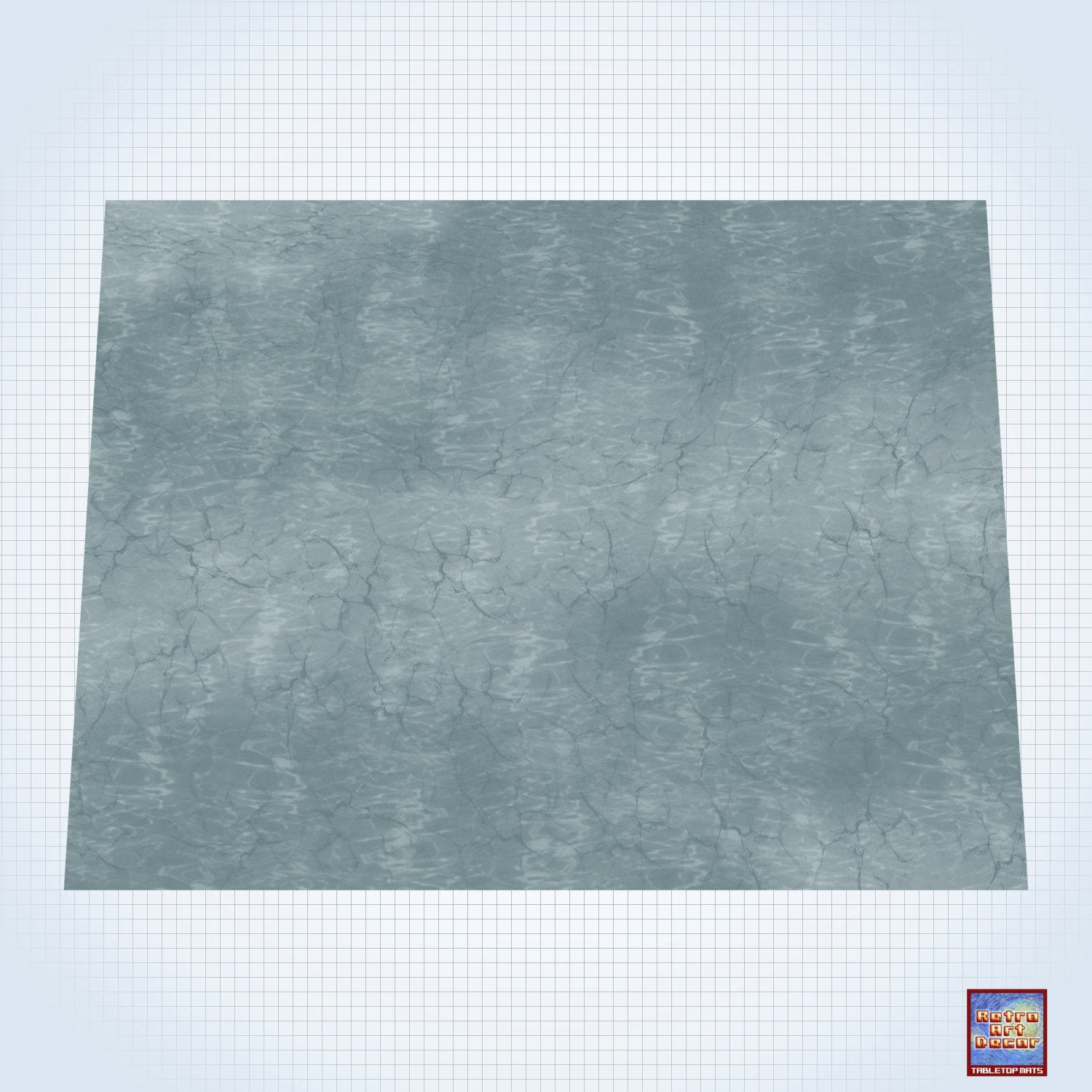 "The Dark Ocean - #GM200 - 60"" x 80"" (4' x 6' plus) Fleece Table Top Gaming Mat"