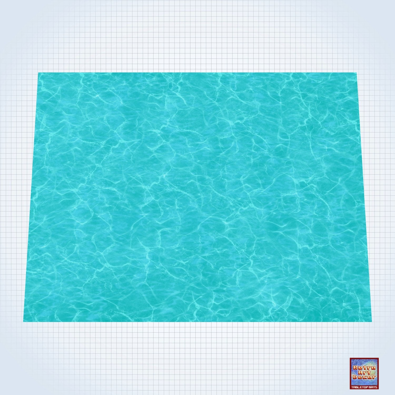 Tropical Waters – #GM202 – 60″ x 80″ (4' x 6' plus) Fleece Table Top Gaming Mat