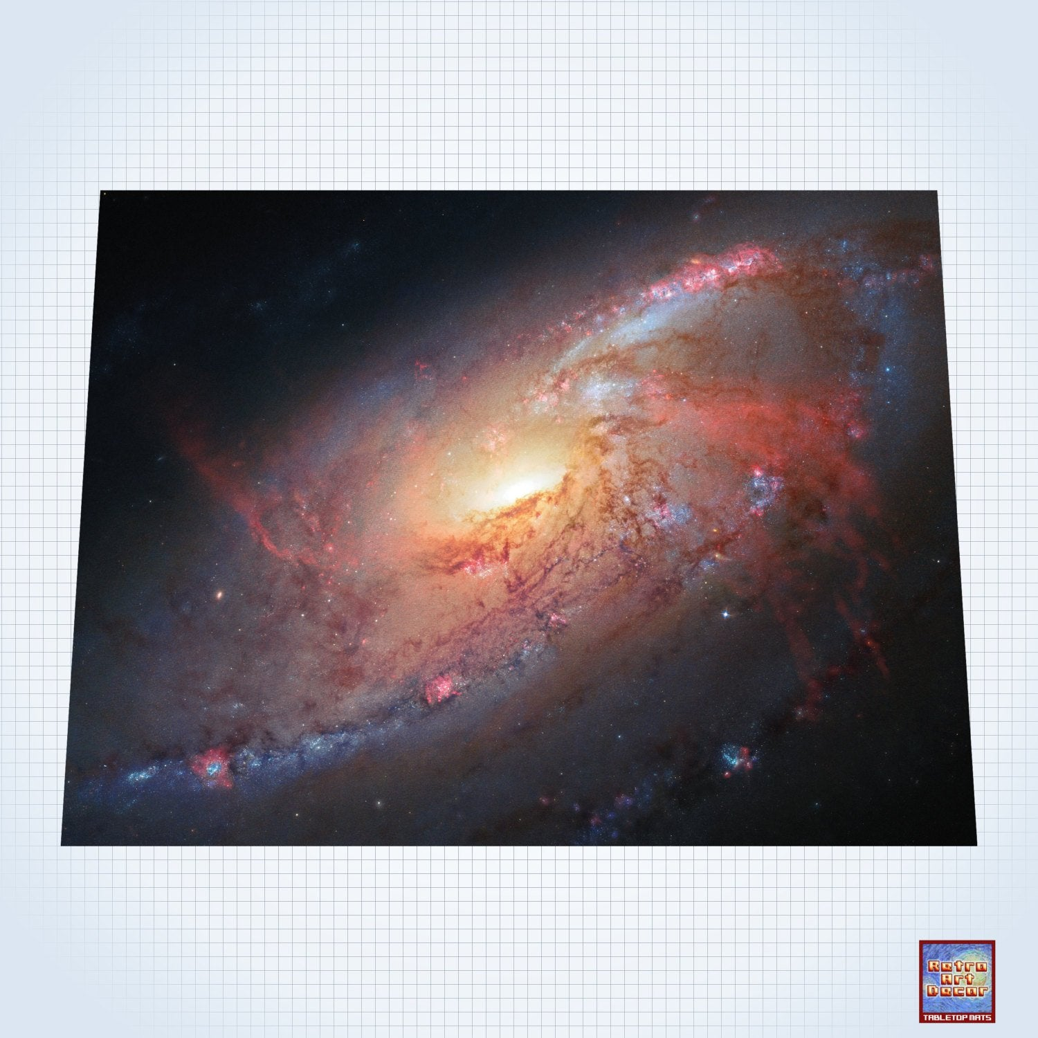 Space, Outer Edges of a Supermassive Black Hole – #GM103 – 60″ x 80″ (4' x 6' plus) Fleece Table Top Gaming Mat