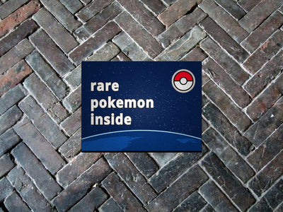 "Pokemon GO, Rare Pokemon Inside 18"" x 24"" Doormat Welcome Floormat"