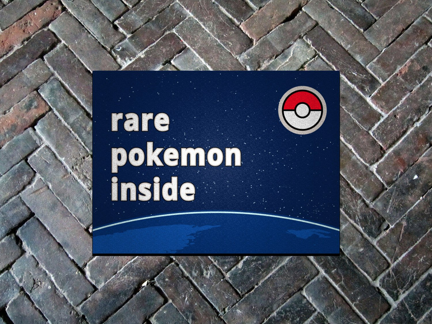 "Pokemon GO, Rare Pokemon Inside 24"" x 36"" Doormat Welcome Floormat"