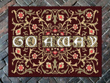 "Go Away Welcome Mat, 36"" x 60"" Doormat Floormat"