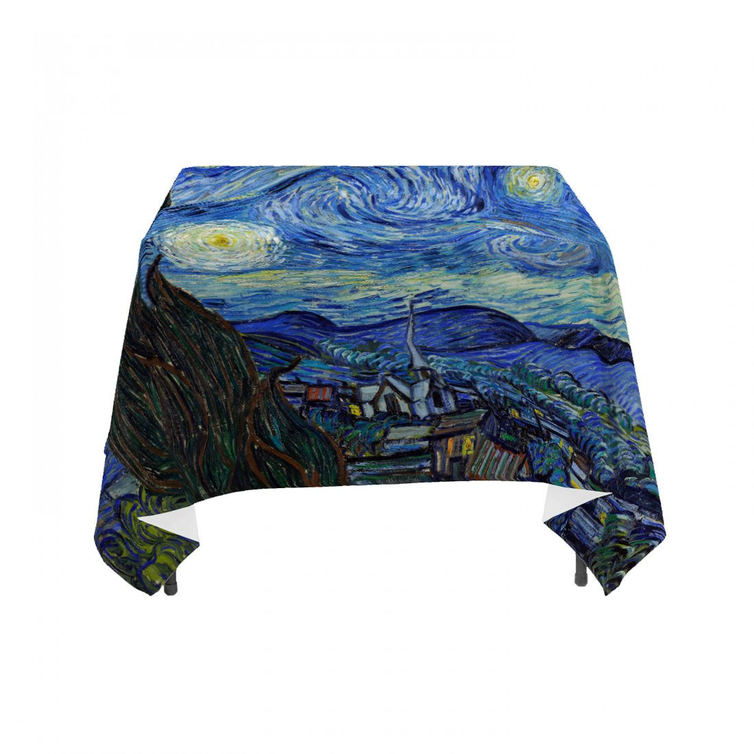 "Vincent Van Gogh's ""Starry Night"", Linen Table Cloth"