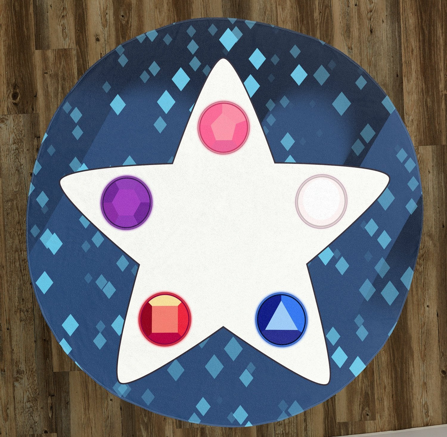 "Crystal Gem Star 60"" Round Microfiber Beach Towel"