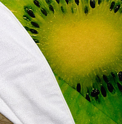 "Kiwi Fruit Slice 60"" Round Microfiber Beach Towel"