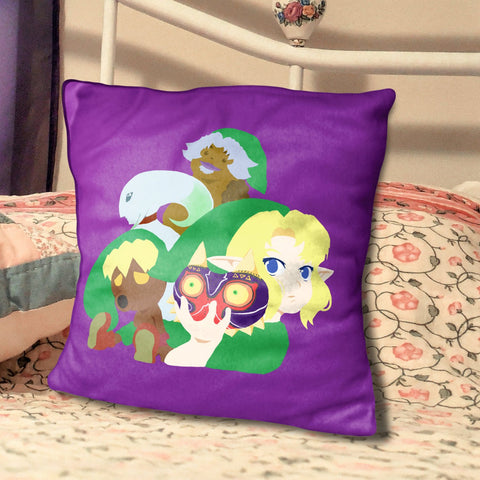 "Majora's Mask Illustration, 20"" Spun Polyester Pillow"