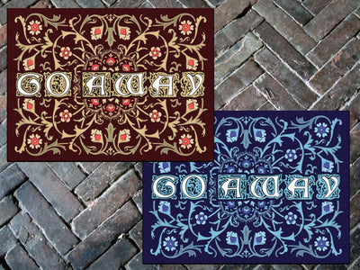 "Go Away Welcome Mat, 24"" x 36"" Doormat Floormat"