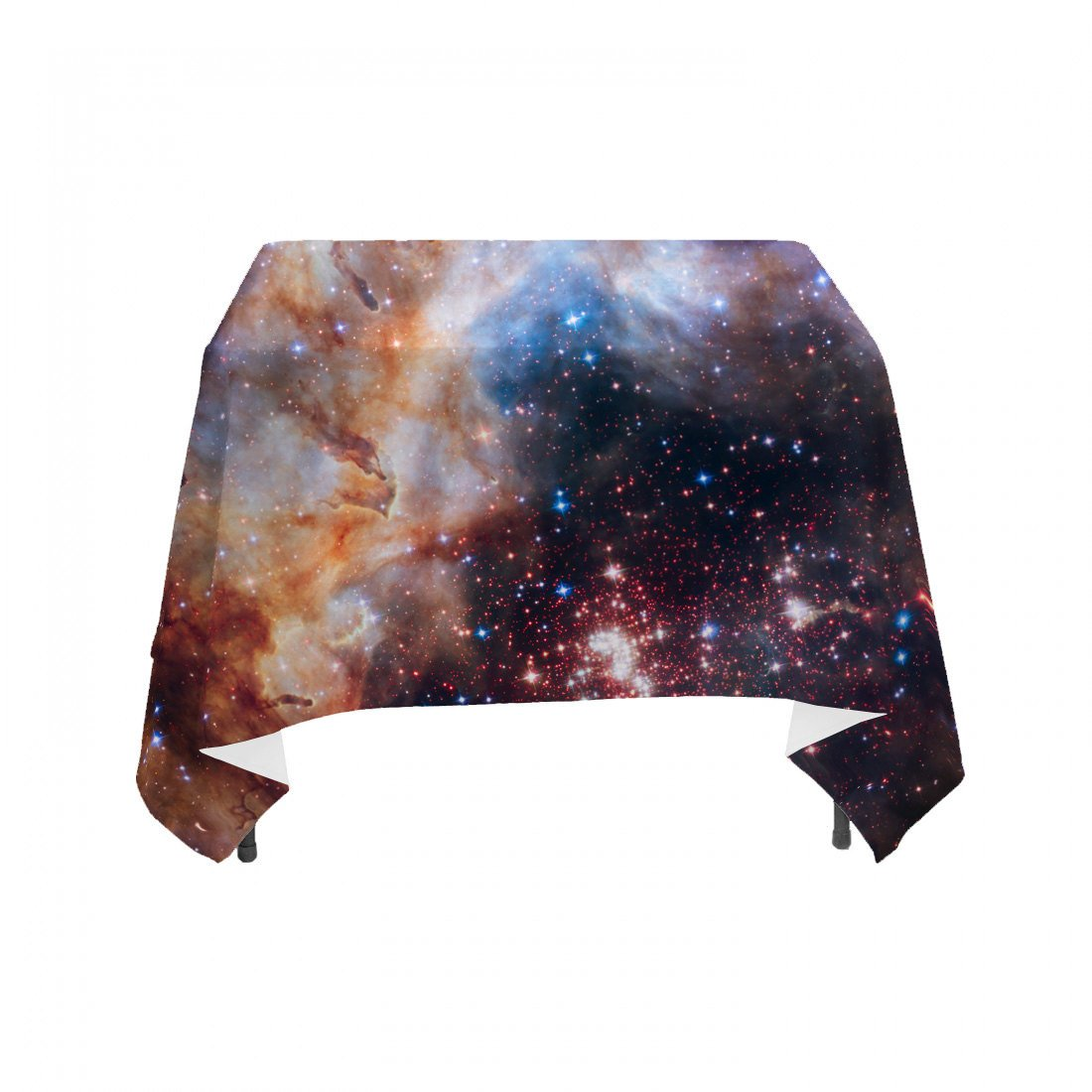 Space Galaxy – Celestial Fireworks, Hubble 25th Anniversary – Linen Table Cloth